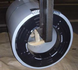Coil ring for handling steel coils with lifting gears