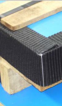 Corner protection cut-to-size for pallets