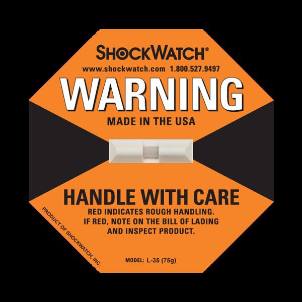 Indicador de impacto Shockwatch