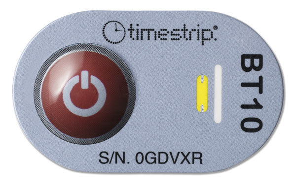 Indicador de temperatura Timestrip Blood