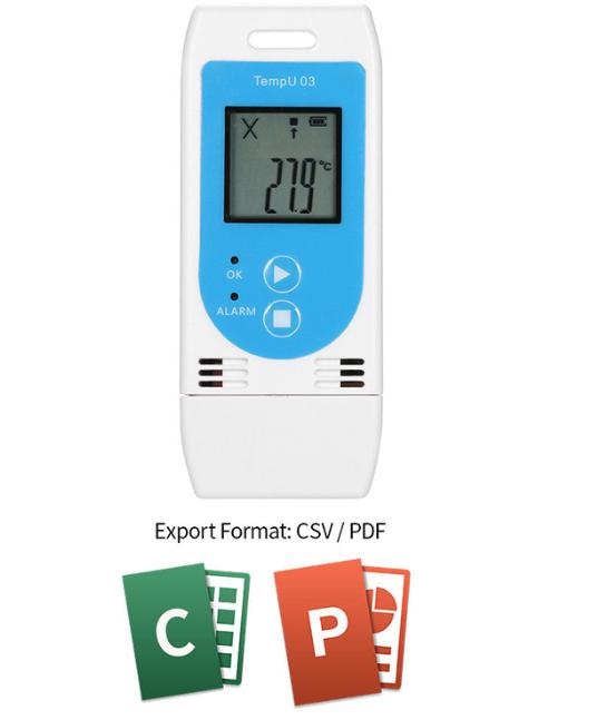 registrador de temperatura y humedad multiuso TempU03