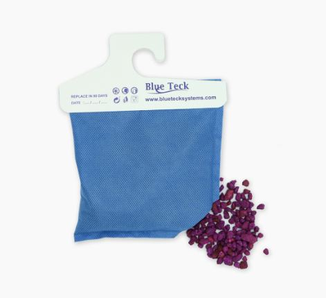 Odor remover bag for boats