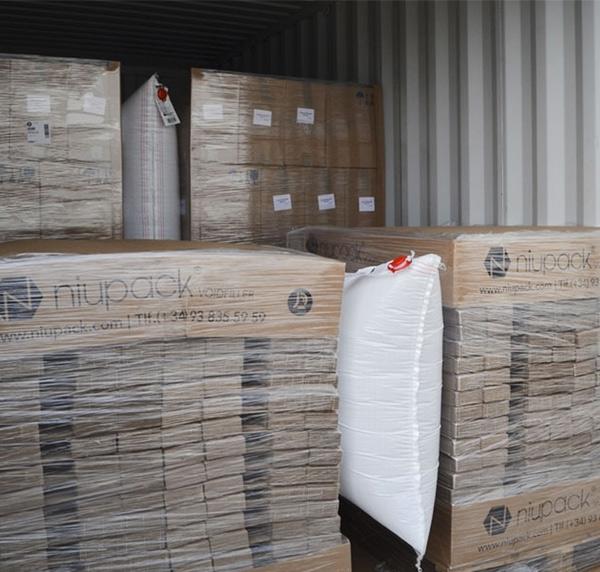 Airbags bolsas hinchables para transporte de mercancías