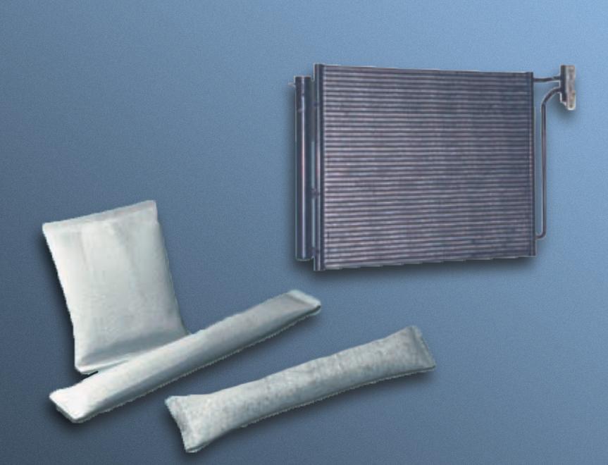 bolsas desecantes para refrigeración en automoción
