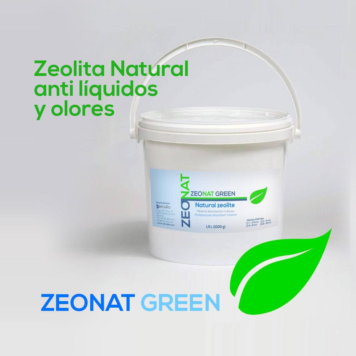 zeolita natural Zeonat Green anti líquidos y olores
