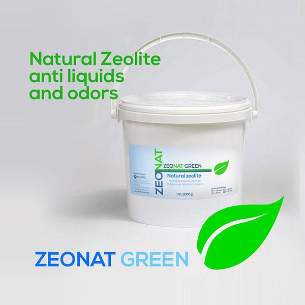 ZEONAT GREEN Natural Zeolite anti liquids and odors