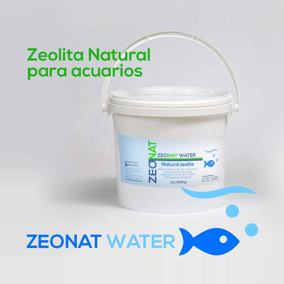 zeolita natural Zeonat Green para acuarios