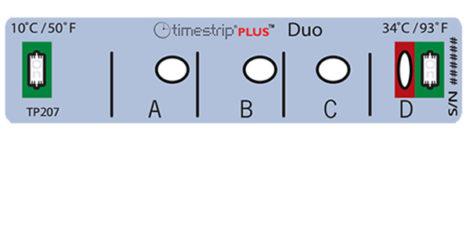 Indicador de temperatura Timestrip DUO